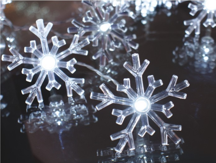 manufacturer In China FY-009-A184 LIGHT CHAIN WITH SNOWFLAKE DECORATION  factory