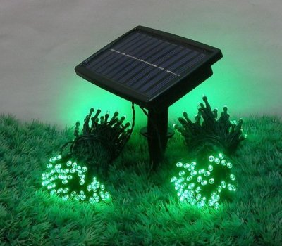 solar powered led 100 fil de cuivre guirlande lumineuse jardin de no l en plein air. Black Bedroom Furniture Sets. Home Design Ideas